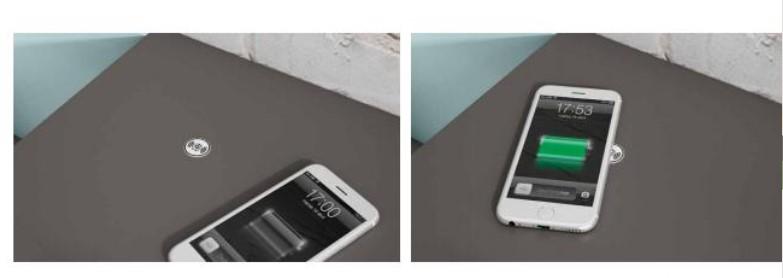 cargador de móvil invisible